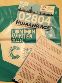 Run247's Supermum Cally has signed up to the Cancer Research UK London Winter Run - Sunday, February 1, 2015