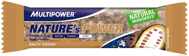 Multipower Nature's Power Bar designed to be used before and during exercise